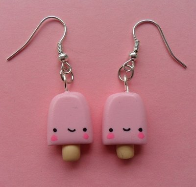 Sweet Ice Lolly Earrings - strawberry