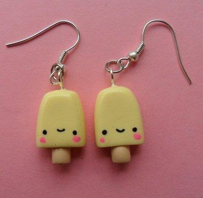 Sweet Ice Lolly Earrings - banana