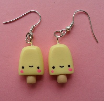 Sweet Ice Lolly Earrings - banana