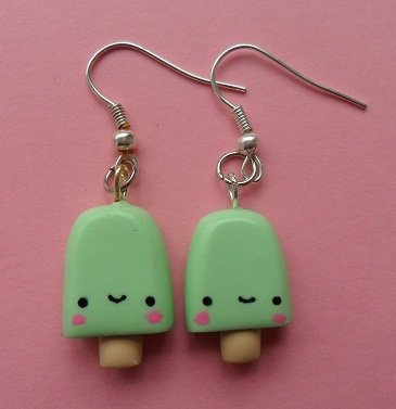 Sweet Ice Lolly Earrings - mint