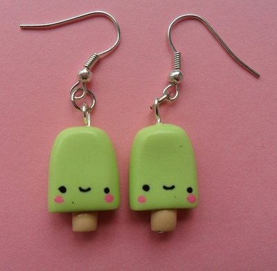 Sweet Ice Lolly Earrings - lime
