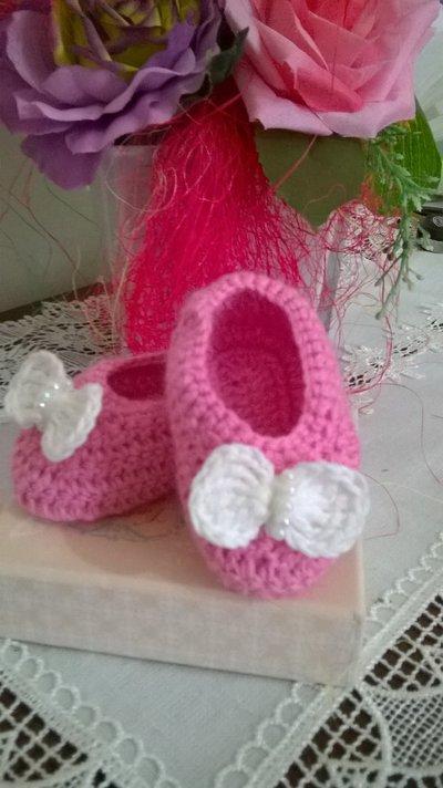 ballerine in lana primi giorni neonata
