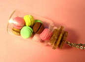 Macarons in a Jar Necklace