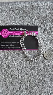 Bracciale in alluminio con medaglietta personalizzata