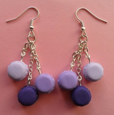My favourite macarons - earrings: lilac passion