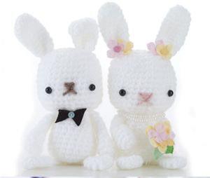 Cake Topper coniglietti, personalizzato, amigurumi, matrimonio originale, eco solidale, eco friendly, sposini, uncinetto, fatto a mano