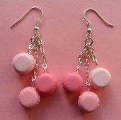 My favourite macarons - earrings: rose, strawberry, raspberry