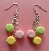 My favourite macarons - earrings: rose, vanilla, pistachio