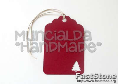 Set 50 Tag per Natale, tag albero di Natale, perfette per regali, tag etichette rosse