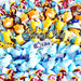 BOMBONIERE NASCITA battesimo comunione compleanno completi di confetti sacchetto