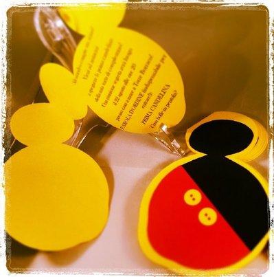 """Set 10 inviti compleanno, """"Topolino"""", Mickey Mouse"""
