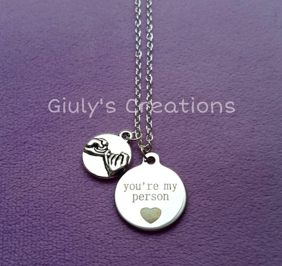 Collana you're my person GREY'S ANATOMY Meredith Cristina anatomia Serie TV love