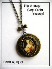 THE VINTAGE LADY LOCKET-CIONDOLO PORTAFOTO VINTAGE