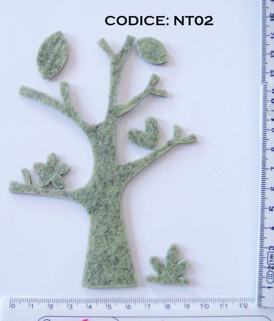 Fustellato Feltro Albero NT02