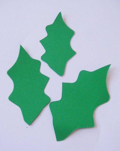Fustellato feltro agrifoglio foglie nt04 materiali - Agrifoglio immagini a colori ...