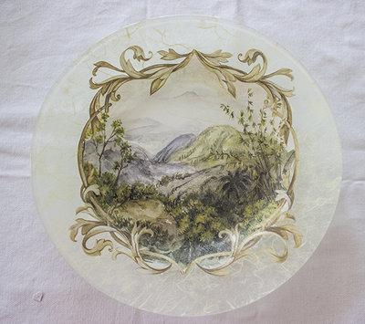 Piatto in vetro Paesaggio