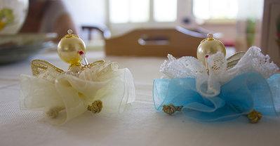 Angeli nastri e perline