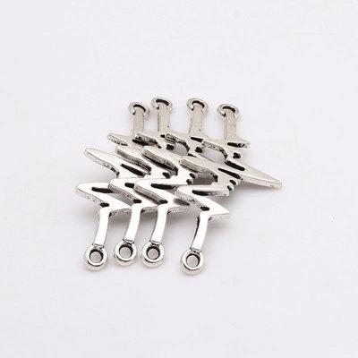 Connettore elettrocardiogramma tono argento 6 pezzi