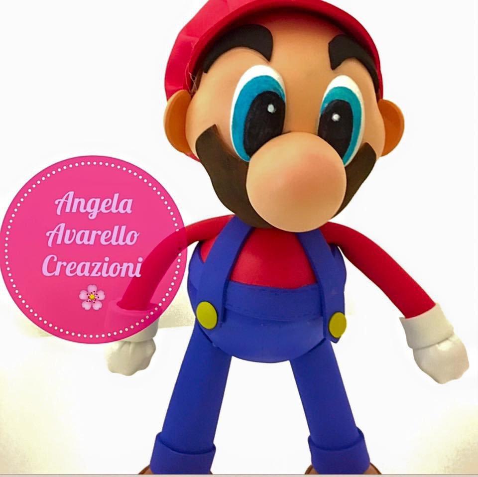 SPEDIZIONE GRATUITA! Super Mario cake topper, gomma crepla, fommy, moosgummy