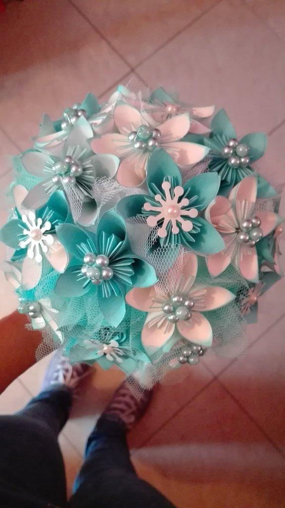 Bouquet Sposa Origami.Bouquet Sposa Origami Feste Matrimonio Di La Fantasticheria