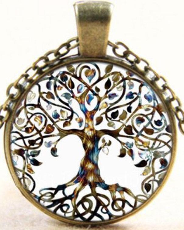 Collana con albero della vita stile vintage