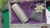 confezione regalo lavanda e candela