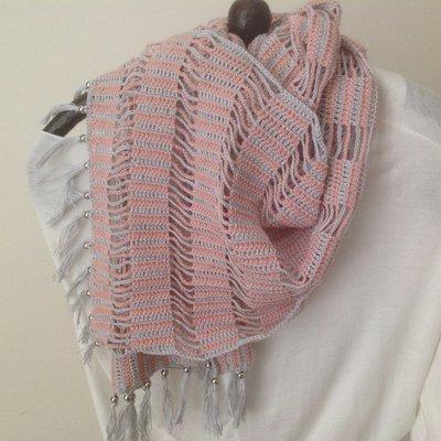 Sciarpa Di Cotone Ad Uncinetto Donna Abbigliamento Di Pinette