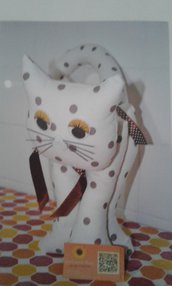 Gatto fermaporta 42 cm pois