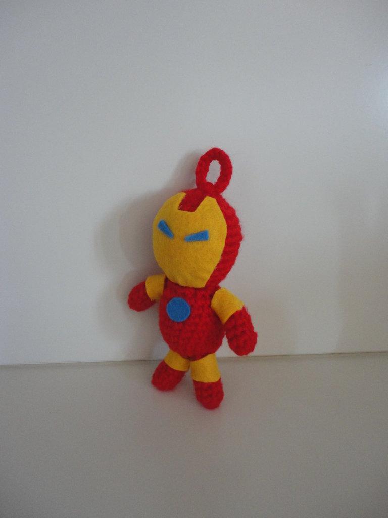Ironman-Avengers portachiavi amigurumi