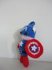 Capitan America-Avengers amigurumi