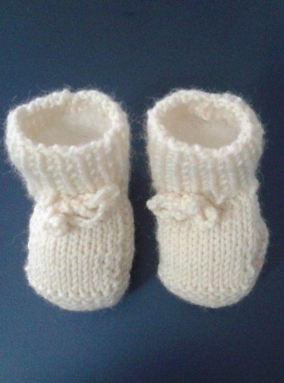 Scarpine neonato in lana