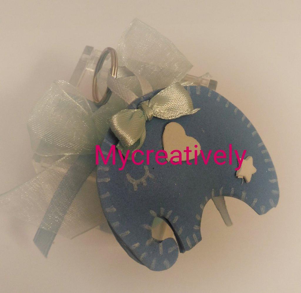 Bomboniera elefantino blu