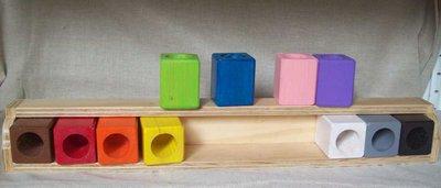 Gioco porta colori montessoriano bambini per l 39 asilo e la scuol su misshobby - Porta libri montessori ...