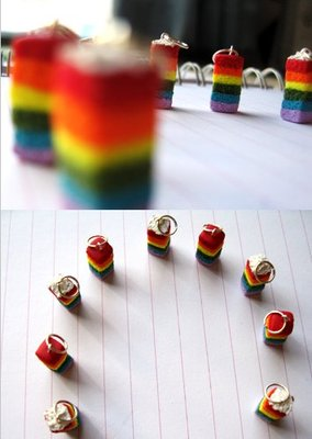 Rainbow Cake Charm with Frosting