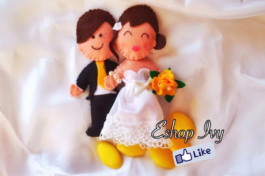 Cake topper matrimonio decorazione torta bomboniera anniversario sposini