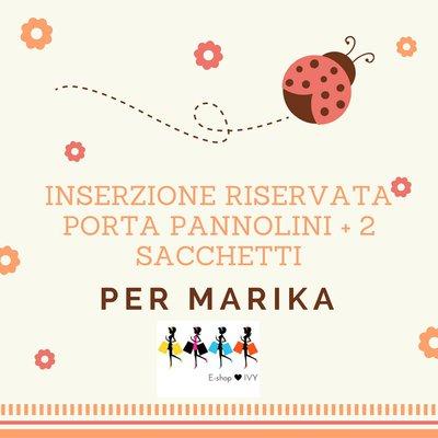 Inserzione riservata per Marika Due sacchetti + un porta pannolini