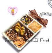 Collana Piatto Indiano -  Aloo Matar Mushroom, samosa, Vegetable Pakoda. Daal, Chawal. Naan - aloo tikki