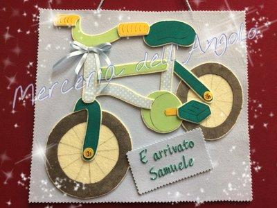 Fiocco nascita bicicletta