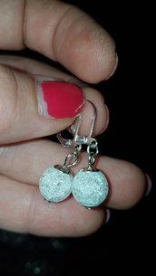 orecchini in cristallo di roccca cracked