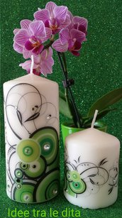 Candela ghirigori verde