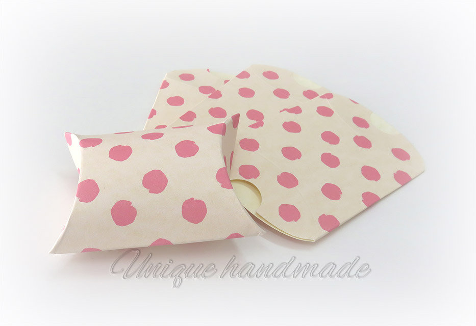 Scatoline portaconfetti pois rosa