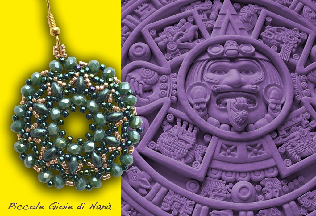 orecchini hand made INCA