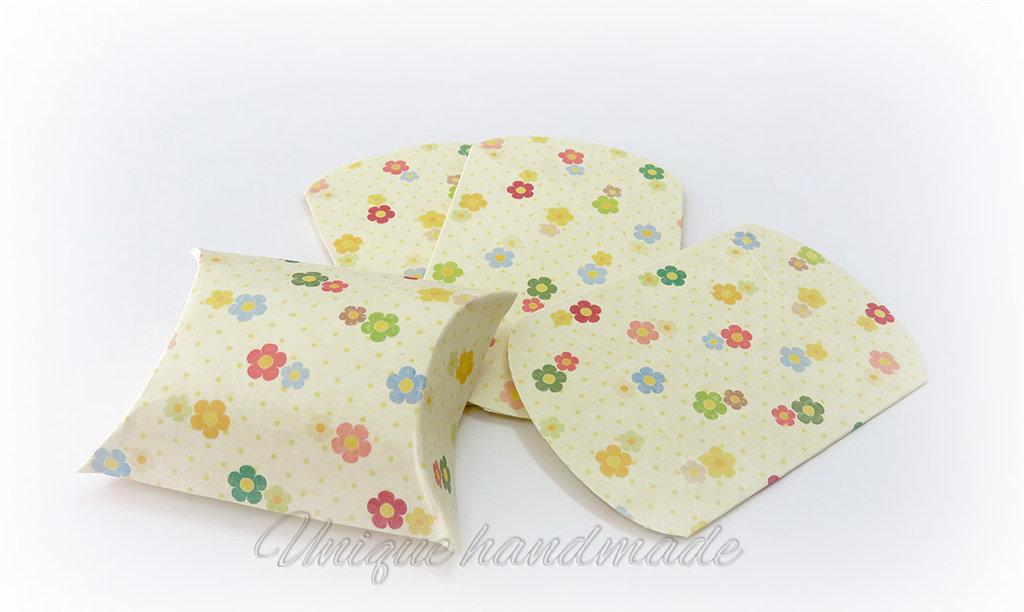 Scatoline portaconfetti fiorellini