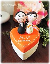 Sposini su scatola - Bomboniera matrimonio