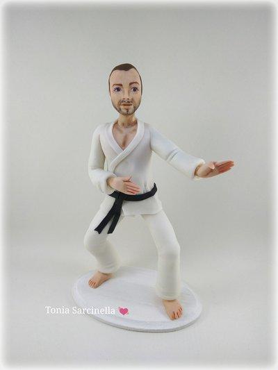 Statua cake topper Karateka