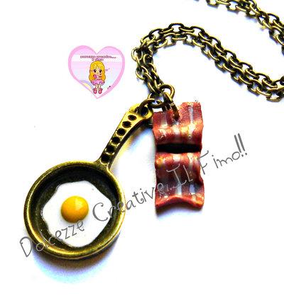 Collana - Colazione all'americana - Padella di uova con bacon