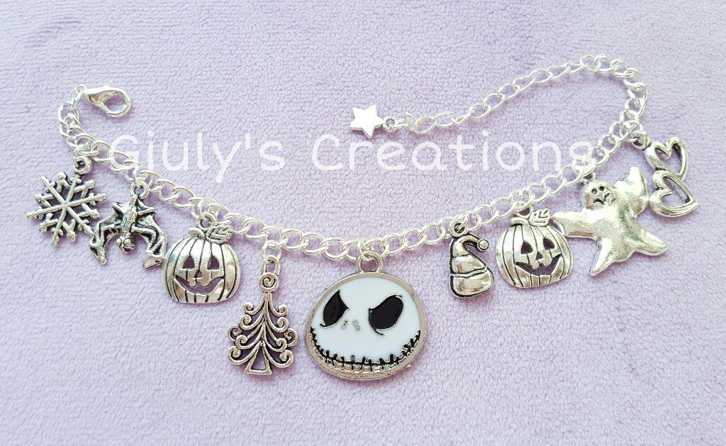 Bracciale The Nightmare before Christmas Jack Skeletron Bau bau halloween Sally