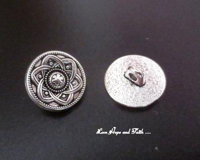 1 Paio di bottoni in metallo (15mm) (cod. new)
