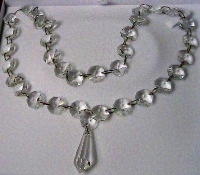 Collana lunga con cristalli Swarovski