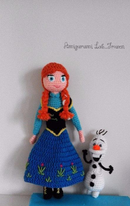 Anna-Frozen bambola realizzata a mano